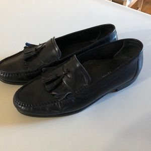 Hush puppies black dress loafers shoes 10 1/2
